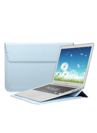 Mcstorey MacBook Air Retina 13.3 13  Vegan Deri Çanta Zarf Kılıf Sleevebag  Stand Lacivert